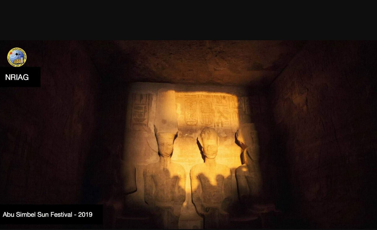 Observation of the orthogonality phenomenon of the Sun at the Abu Simbel temple.