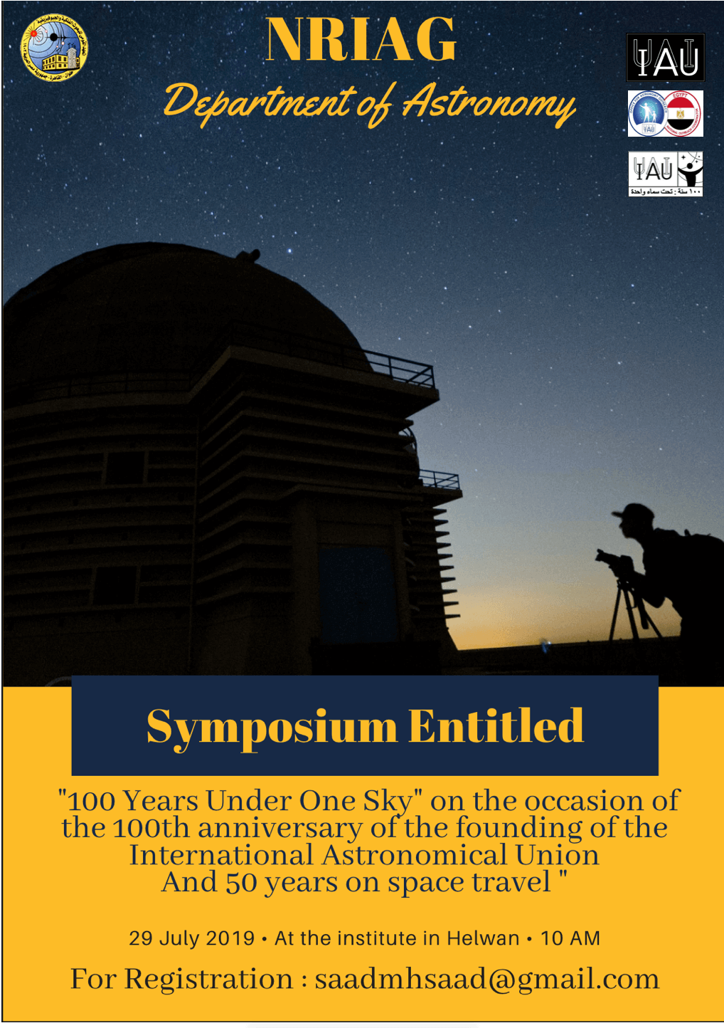 Workshop: 100 Years Under One Sky, 29  July 2019